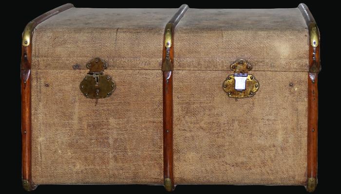 Baul cofre madera decorado